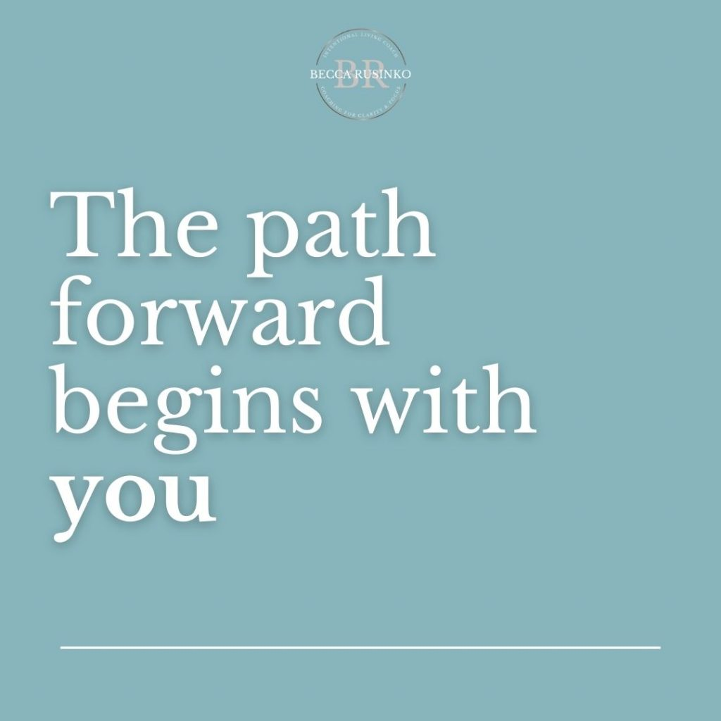 The path forward begins with you.